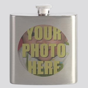 Personalized Circular Image Flask