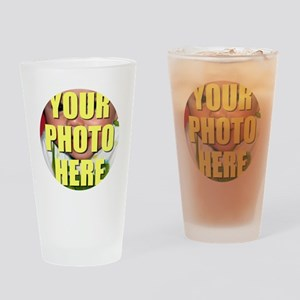 Personalized Circular Image Drinking Glass
