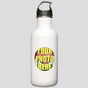 Personalized Circular Image Water Bottle