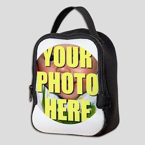 Personalized Circular Image Neoprene Lunch Bag