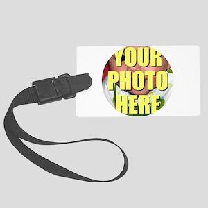 Personalized Circular Image Luggage Tag