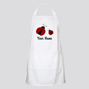 Ladybugs Red Personalized Apron