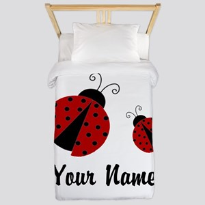 Ladybugs Red Personalized Twin Duvet