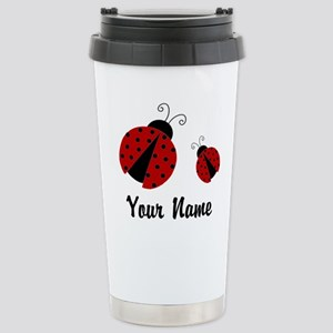 Ladybugs Red Personalized Travel Mug
