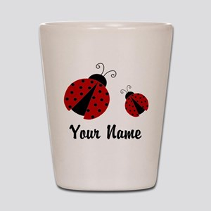 9de2655bb464 Ladybugs Red Personalized Shot Glass