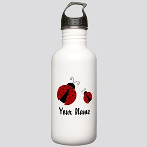 Ladybugs Red Personalized Water Bottle
