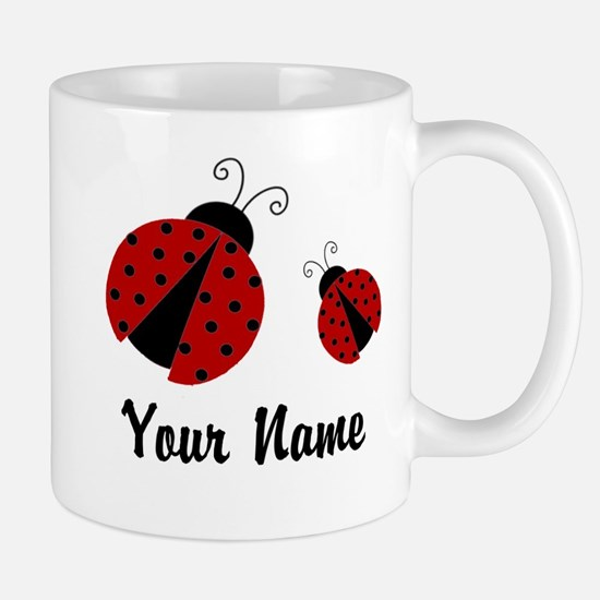 Ladybugs Red Personalized Mugs