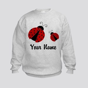 Ladybugs Red Personalized Sweatshirt