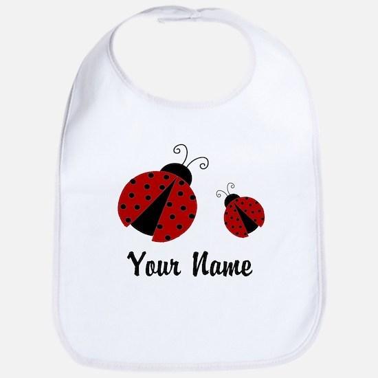 Ladybugs Red Personalized Bib