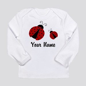 Ladybugs Red Personalized Long Sleeve T-Shirt