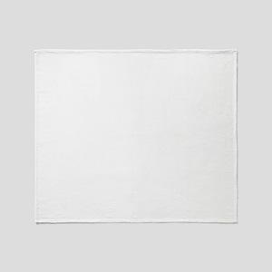white on black Throw Blanket