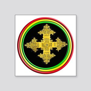 "ethipia cross rasta perform Square Sticker 3"" x 3"""