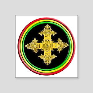 "ethipia cross rasta perform Square Sticker 3"" x 3"""