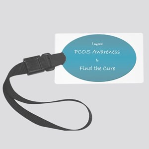pcos awareness Large Luggage Tag