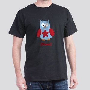 Personalized Independence Day Owl Dark T-Shirt