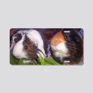 Guinea pigs, Watson and Sop Aluminum License Plate
