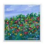 Grandma's Garden Floral Tile Coaster