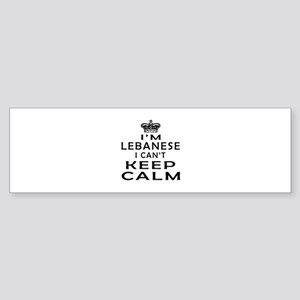 I Am Lebanese I Can Not Keep Calm Sticker (Bumper)
