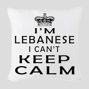 I Am Lebanese I Can Not Keep Calm Woven Throw Pill
