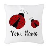 Lady bug Woven Pillows