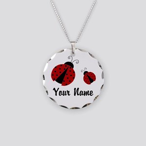 Ladybugs Red Personalized Necklace