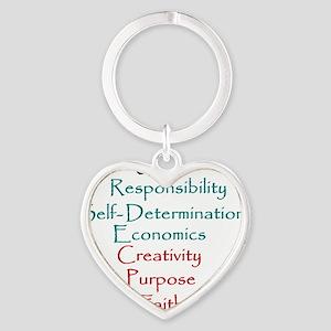 Kwanzaa Heart Keychain