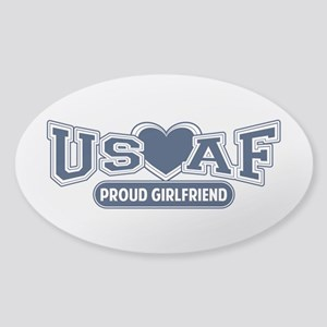 Air Force Girlfriend Sticker (Oval)