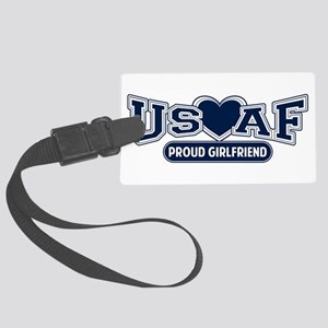 Air Force Girlfriend Large Luggage Tag