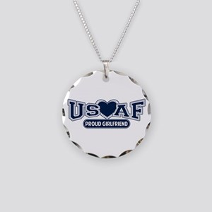 Air Force Girlfriend Necklace Circle Charm