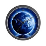 Earth And Moon Fantasy Wall Clock