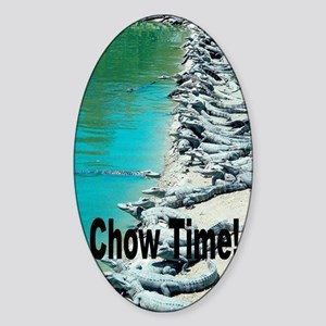 Chow Time! Sticker (Oval)