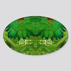 The Art of the Circuit Board Sticker (Oval)