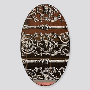 New Orleans Grillwork Sticker (Oval)