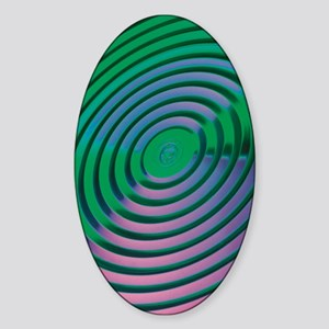 Neon Grooves Sticker (Oval)