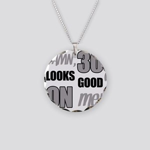 Funny 30th Birthday (Damn) Necklace Circle Charm