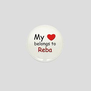 My heart belongs to reba Mini Button