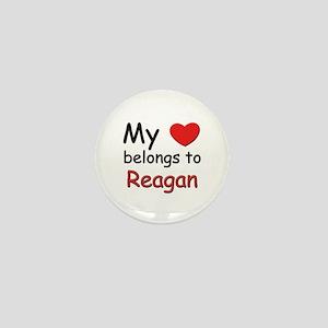 My heart belongs to reagan Mini Button
