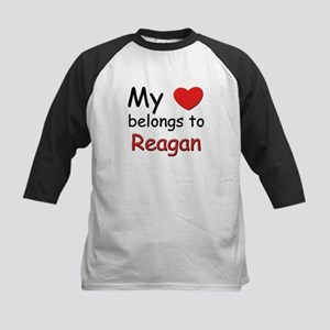 My heart belongs to reagan Kids Baseball Jersey