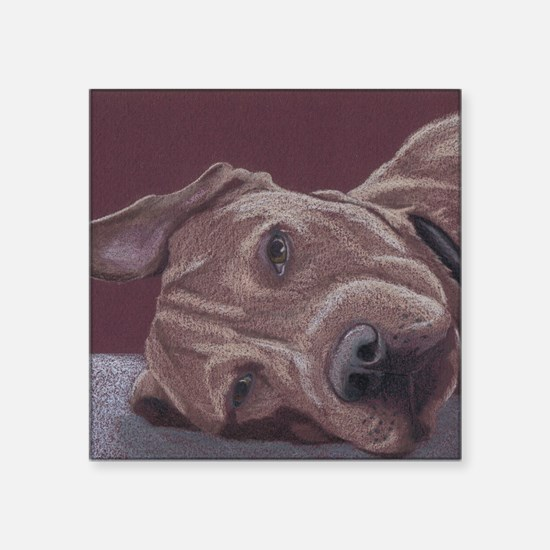 "DogTired-square Square Sticker 3"" x 3"""