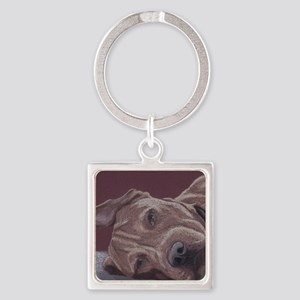 DogTired-square Square Keychain