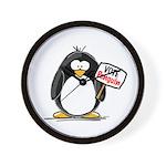 Vote Penguin Wall Clock