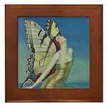 Art Deco Glamour Butterfly Framed Tile