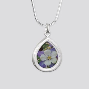 Columbines sq sq Silver Teardrop Necklace