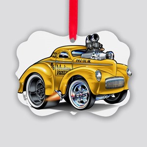 MM41willySCoTyelGasFloat Picture Ornament