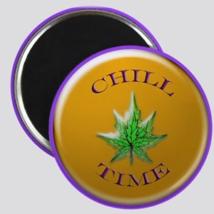 chill time 11x11_pillow Magnet