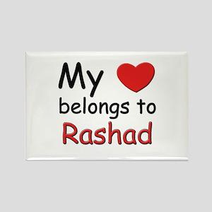 My heart belongs to rashad Rectangle Magnet
