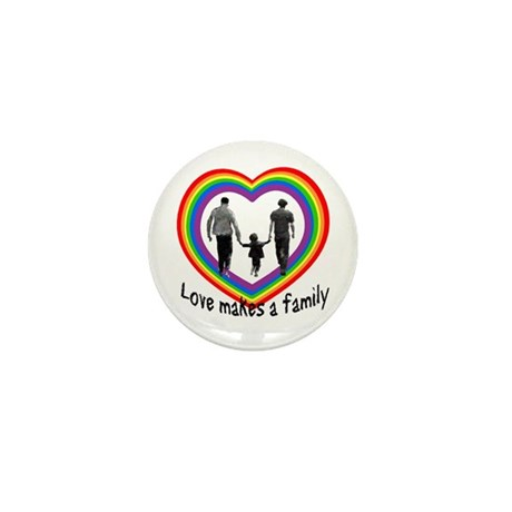 Love Makes A Family Mini Button (10 pack)