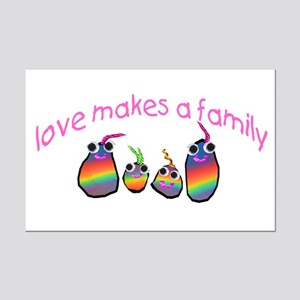 Love Makes A Family  Mini Poster Print