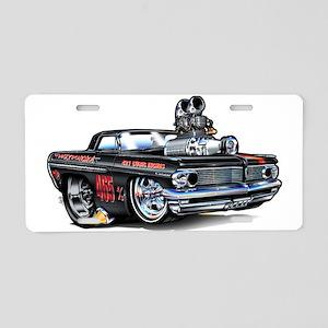 MM62pontCatBlakFloat Aluminum License Plate