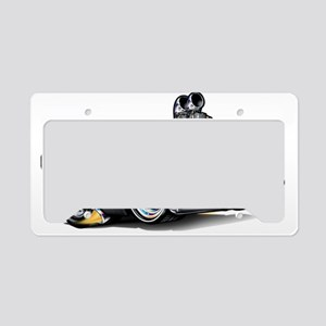MM62pontCatBlakFloat License Plate Holder